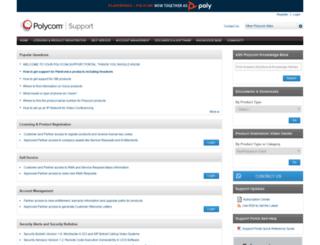 supportdocs.polycom.com screenshot