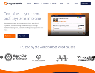 supporterhub.com screenshot