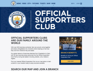 supporters.mcfc.co.uk screenshot