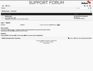 supportforums.bullhorn.com screenshot