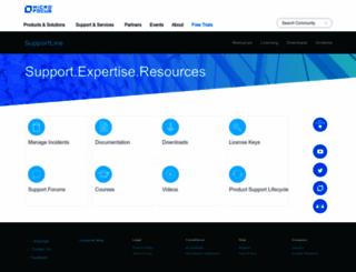 supportline.microfocus.com screenshot
