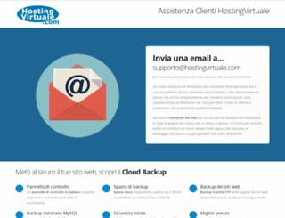 supporto.hostingvirtuale.com screenshot