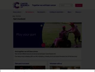supportus.cancerresearchuk.org screenshot