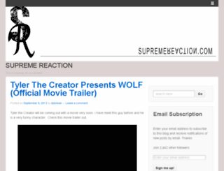 supremereaction.wordpress.com screenshot