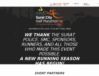 suratcitymarathon.com screenshot