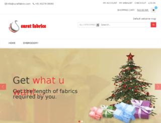 suratfabrics.com screenshot
