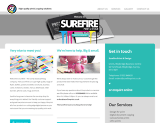 surefireprint.co.uk screenshot