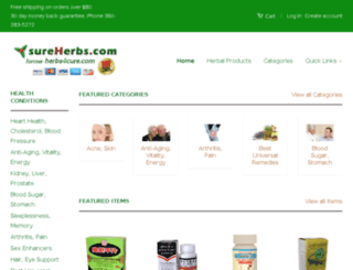 sureherbs.com screenshot