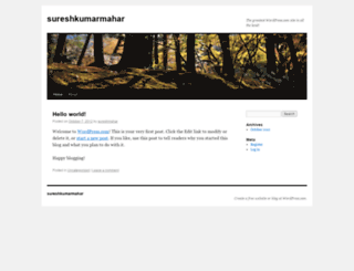 sureshmahar.wordpress.com screenshot