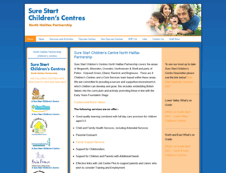 surestartchildrenscentresnhp.org.uk screenshot