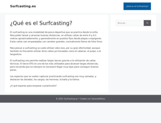 surfcasting.es screenshot