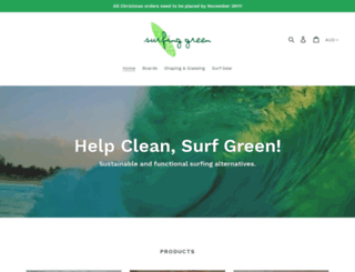 surfinggreen.com.au screenshot