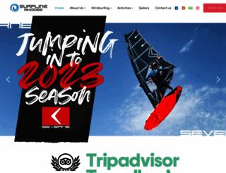 surflinerhodes.gr screenshot