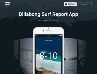 surfreport.billabong.com screenshot