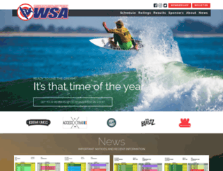 surfwsa.org screenshot