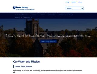 surgery.duke.edu screenshot