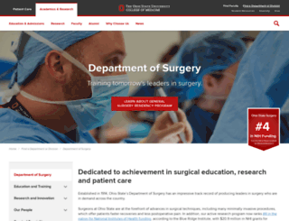 surgery.osu.edu screenshot