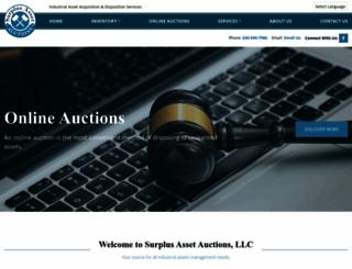 surplusassetauctions.com screenshot