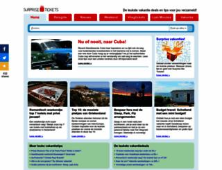 surprisetickets.nl screenshot