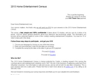 survey.centris.com screenshot