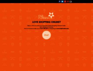survey.fabfurnish.com screenshot