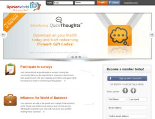 survey.opinionworld.com screenshot