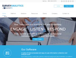 surveyanalytics.co screenshot