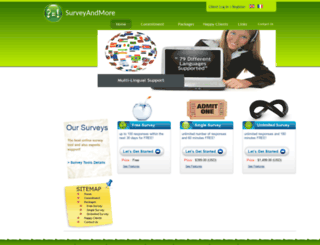 surveyandmore.com screenshot