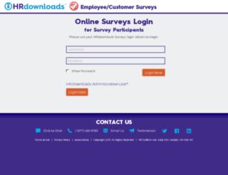 surveys.hrdownloads.com screenshot