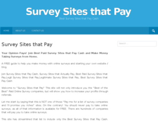 surveysitesthatpay.com screenshot