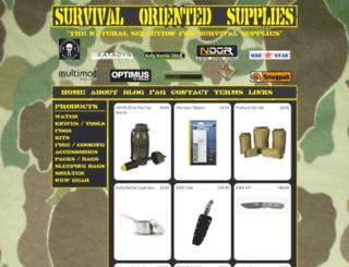 survivalorientedsupplies.com screenshot