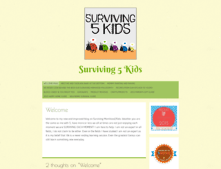 surviving5kids.wordpress.com screenshot