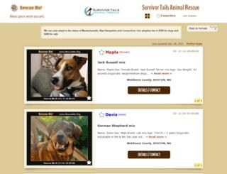 survivortails.rescueme.org screenshot