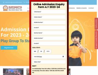 suryadattaschool.org screenshot