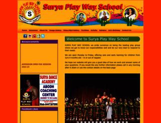 suryaplaywayschool.in screenshot