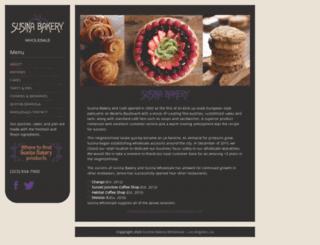 susinabakery.com screenshot