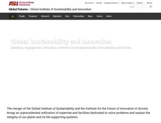 sustainability.asu.edu screenshot