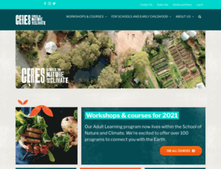sustainability.ceres.org.au screenshot