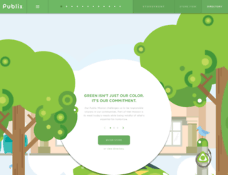 sustainability.publix.com screenshot