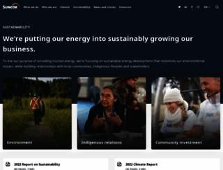 sustainability.suncor.com screenshot