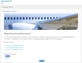 sustainability.sydneyairport.com.au screenshot