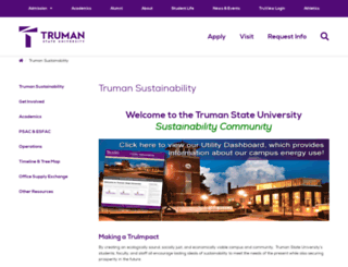 sustainability.truman.edu screenshot
