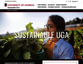 sustainability.uga.edu screenshot