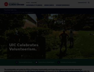 sustainability.uic.edu screenshot