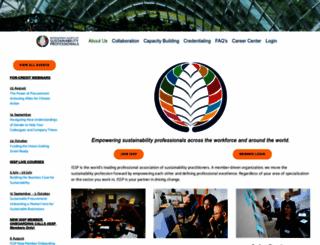 sustainabilityprofessionals.org screenshot