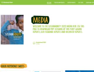 sustainabilityreport2013.kimberly-clark.com screenshot