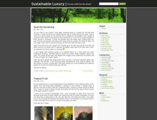 sustainable-luxury.co.uk screenshot