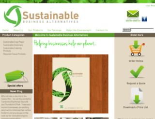 sustainablebusinessalternatives.com.au screenshot