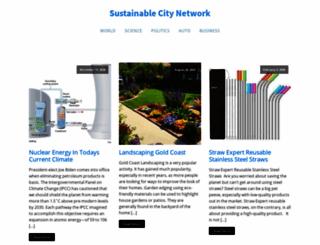 sustainablecitynetwork.com screenshot