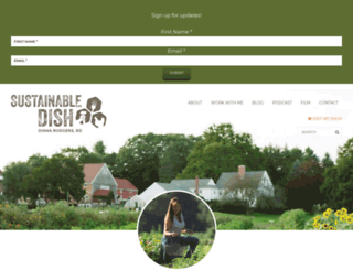 sustainabledish.com screenshot